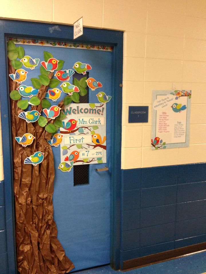 Classroom Ideas With Birds ~ Boho birds door bulletin board ideas pinterest