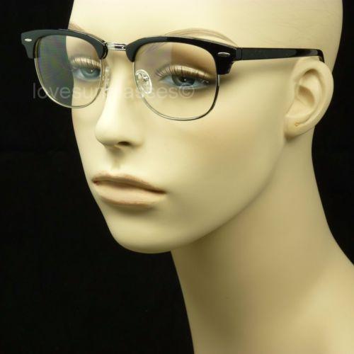 Clear lens glasses nerd geek fake men women retro vintage hipster frame horn rim