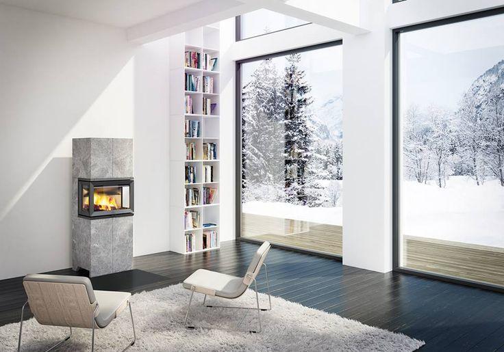 Jøtul speksteenkachel FS 173  in scandinavisch interieur - open haarden ideeën UW-haard.nl #houtkachel #kachels #haarden #scandinavië
