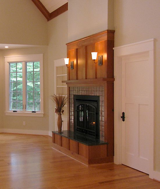 10 best images about fireplaces on pinterest craftsman for Craftsman fireplace pictures