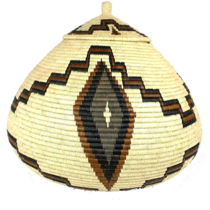 Fair Trade Handmade Zulu Wedding Basket - 027 - Ilala Weavers - The Village Country Store