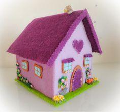 Tutorial casa in feltro fermaporta o porta oggetti