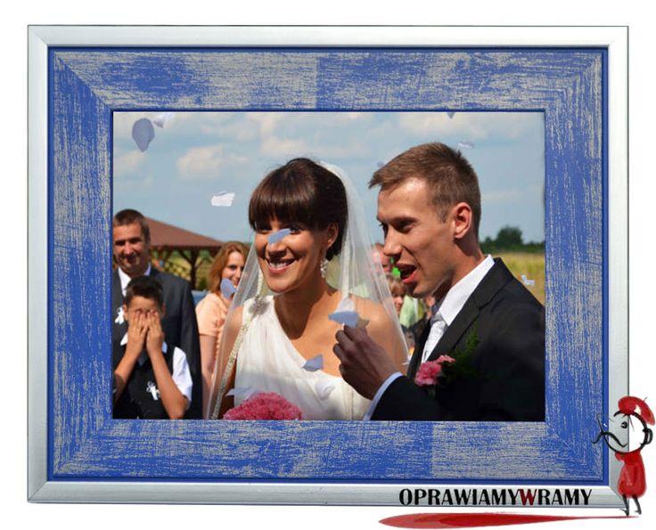 Niebieska ramka na zdjęcia