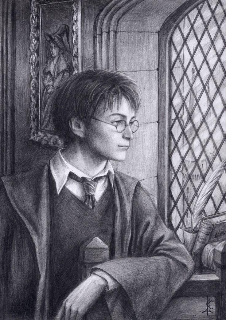 harry potter art | Harry Potter harry Potter pencil portrait