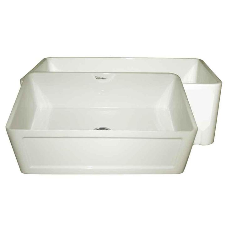 Reversible All-in-One Apron Front Fireclay 27 in. Single Bowl Kitchen Sink in Biscuit