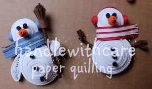 quilling snowman christmas