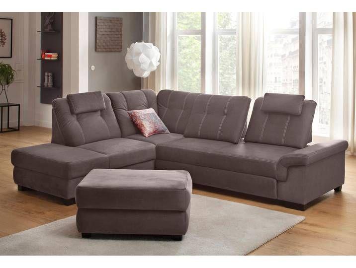 Home Affaire Eck Couch Sven Braun Mit Sitztiefenverstellung Ecksofas Sofa Haus Deko