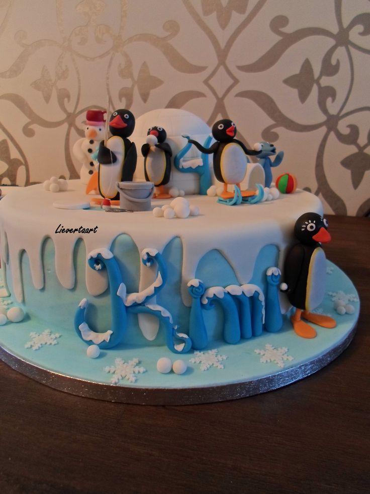Pingu Birthday Cake