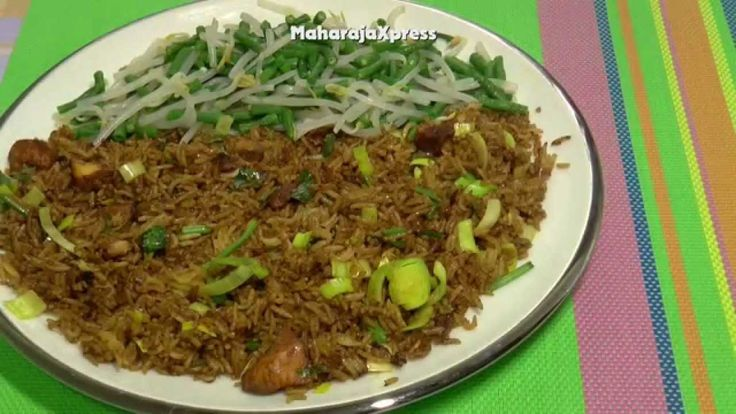 """Surinamese Fried Rice"" with ""Long Yard Beans"" ""Bean Sprouts"" ""Peanut Sa... http://www.youtube.com/user/MaharajaXpress #Food #Salads #Foodies #Kitchen #Recipes #Cooking #Curry #Snack #Desserts #Oven #Barbecue #Grill #Baking #Restaurant #Indian #Chinese #Recipe #Videos"