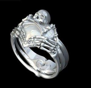 Best 25 Skull wedding ring ideas on Pinterest Gothic wedding
