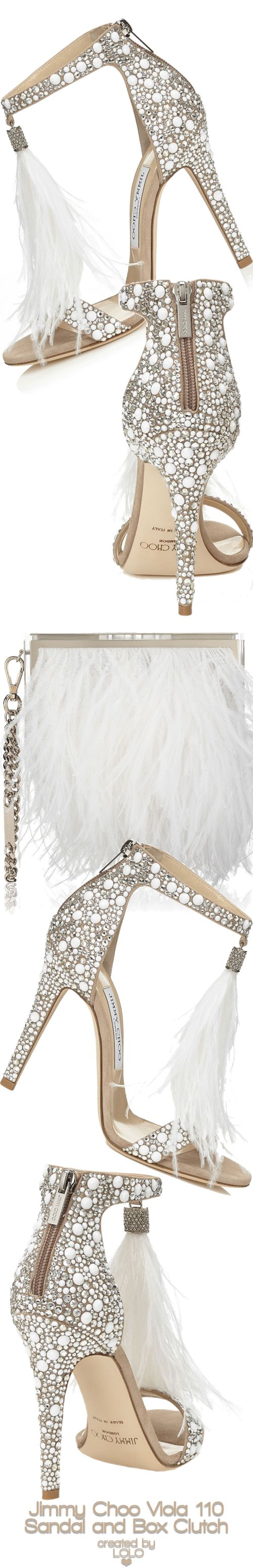 Jimmy Choo Viola 110 and Ostrich Feather Box Clutch | LOLO❤︎
