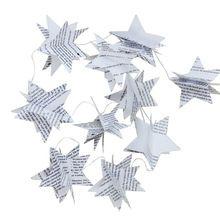 Páginas do livro Livro Reciclado Jornal Estrela Berçário do Feriado Do Natal Do Partido Bunting Bandeira Garland Guirlanda Guirlanda De Casamento Decoração(China (Mainland))