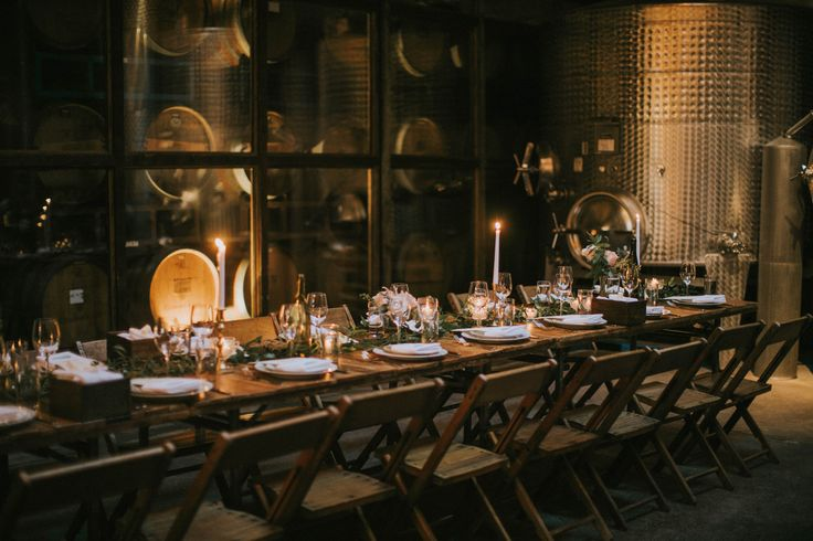 Brooklyn Winery wedding dinners overlook the wine