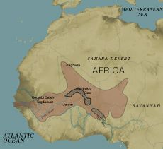 Songhay were built on military power and dynastic alliances. The two most important states were Mali & Songhay.  Songhay became an independent state in the seventh century.