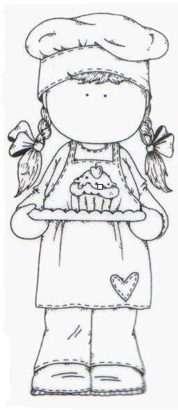 tilda pâtissière et son cup cake - métiers