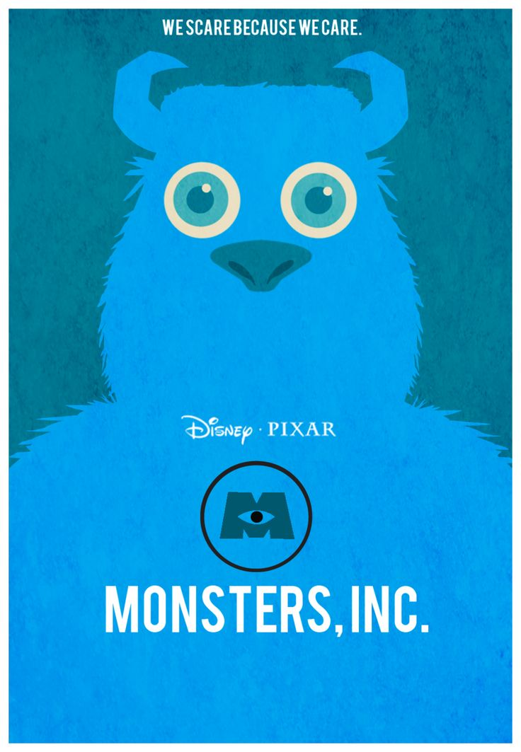 Monster's Inc. Poster Sully by *Yeti-Vision on deviantART