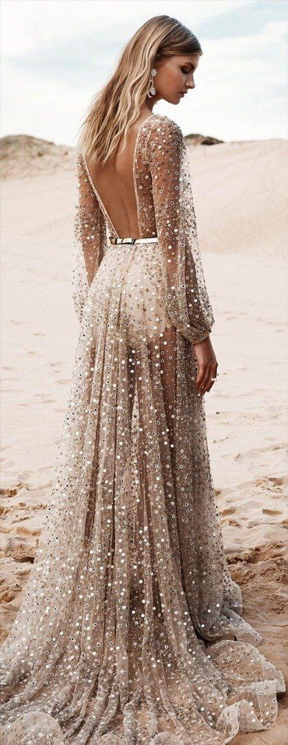 Stunning Open back Beach wedding dress | Fashion style