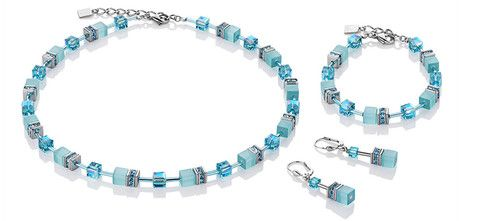 Geo Cube cool turquoise bracelet, earrings and necklace 4322_2000