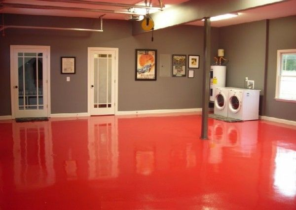extraordinary red epoxy basement floor paint lab pinterest how to paint basement floor. Black Bedroom Furniture Sets. Home Design Ideas