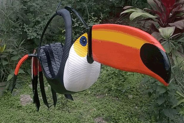 Pin by veletas animadas animated vanes on art recycling for Old tire art