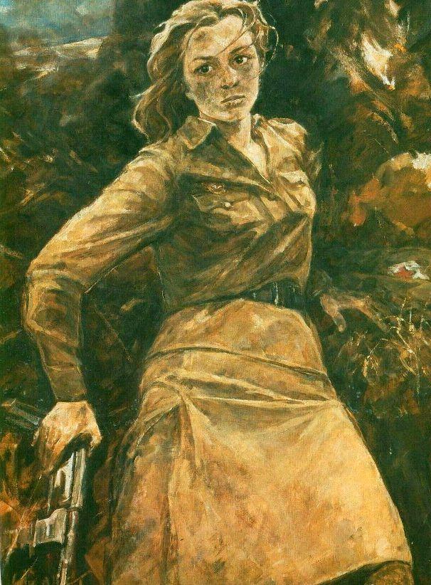 I. Baldin. Natasha Kachuevskaya   - Soviet War Paintings. Part II