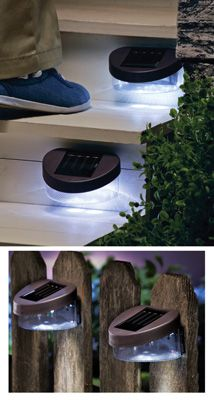 Deck and Fence Wall Mount Solar Lights - 2 Pack from Collections Etc.