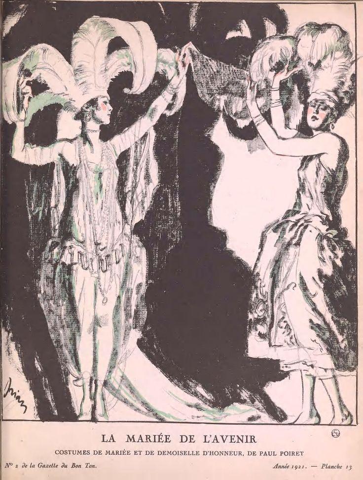 1920's Paris fashion design illustration