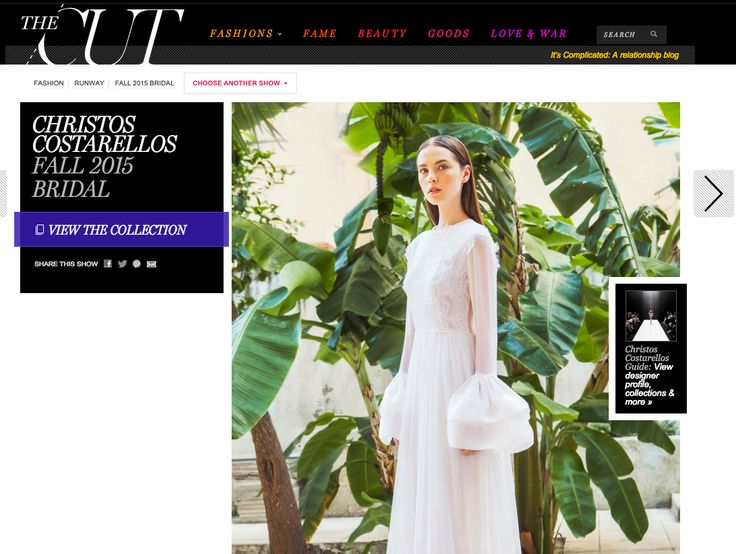 Beyond excited & happy that the ‪#‎christoscostarellos‬ ‪#‎Bridal‬ collection is now on view on the amazing The Cut _powered by the legendary New York Magazine!!! Let the browsing begin!  Visit http://nymag.com/thecut/fashion/shows/2015/fall/new-york/bridal/christos-costarellos.html ‪#‎theCut‬ ‪#‎NY‬ ‪#‎NYmag‬ ‪#‎NewYorkMagazine‬ ‪#‎NYC‬ ‪#‎NewYorkBride‬ #costarellos #costarellosbride #fashionnews #bridaldress #madeingreece  #brides #bridalchic #perfectweddingdress #bridetobe #bridalcouture