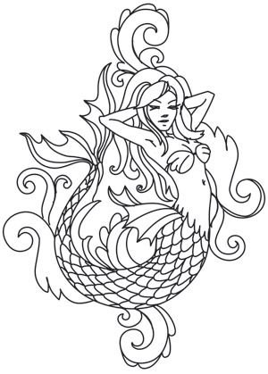 Toile Noir - Mermaid | Urban Threads: Unique and Awesome Embroidery Designs