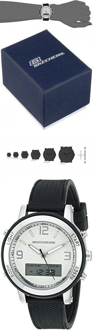 Skechers Women's SR6007 Analog-Digital Display Quartz Black Watch