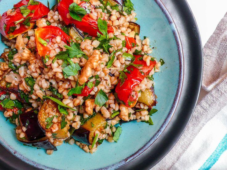 Bulgursalat med aubergine og tomat (2 of 3)
