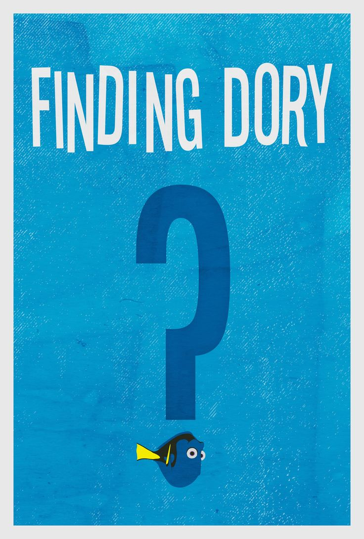 Finding Dory Minimalist Poster - Matt Herman