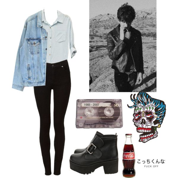 Untitled #122 by violent-eyes on Polyvore featuring Levi's, Cheap Monday, CASSETTE and grunge