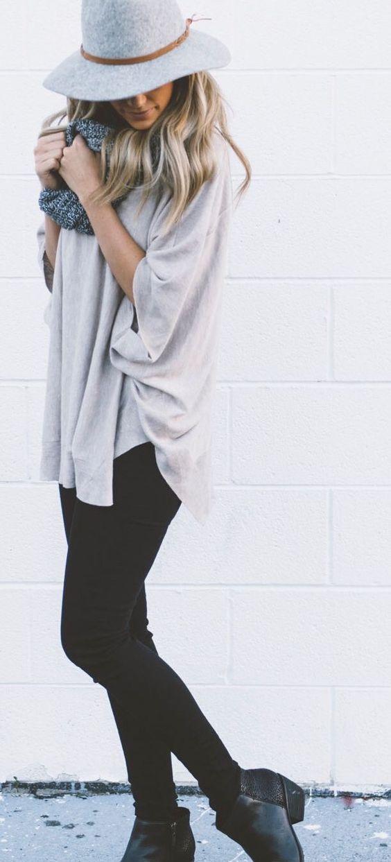 #winter #fashion / black + gray