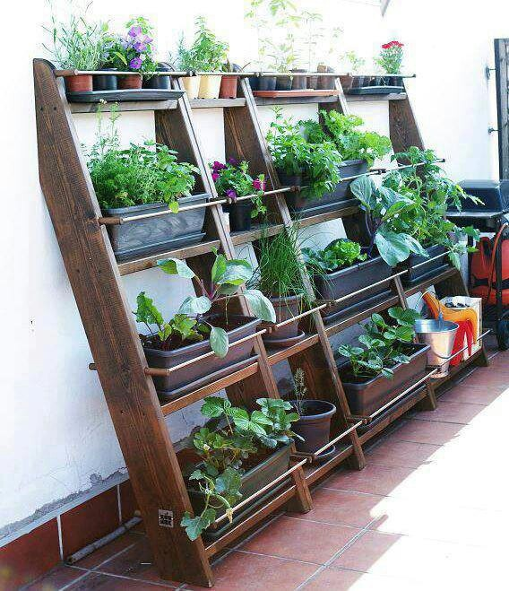 Exceptional Urban Balcony Garden Ideas Part - 13: Small Garden With Space Saver.maybe For Inside My Narrow Green House