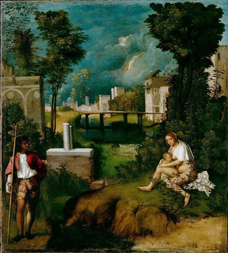 Giorgione, The Tempest, ca. 1508, oil on canvas, 82 x 73 cm. Venezzia, Galleria dell'Accademia.