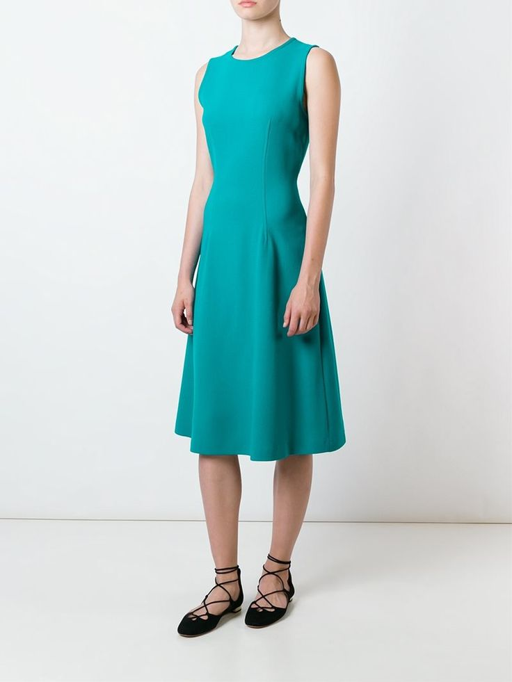 ¡Cómpralo ya!. P.A.R.O.S.H. Vestido Lakixy. Vestido Lakixy en mezcla de lana de color verde azulado de P.A.R.O.S.H.. , vestidoinformal, casual, informales, informal, day, kleidcasual, vestidoinformal, robeinformelle, vestitoinformale, día. Vestido informal  de mujer color azul claro de P.A.R.O.S.H..
