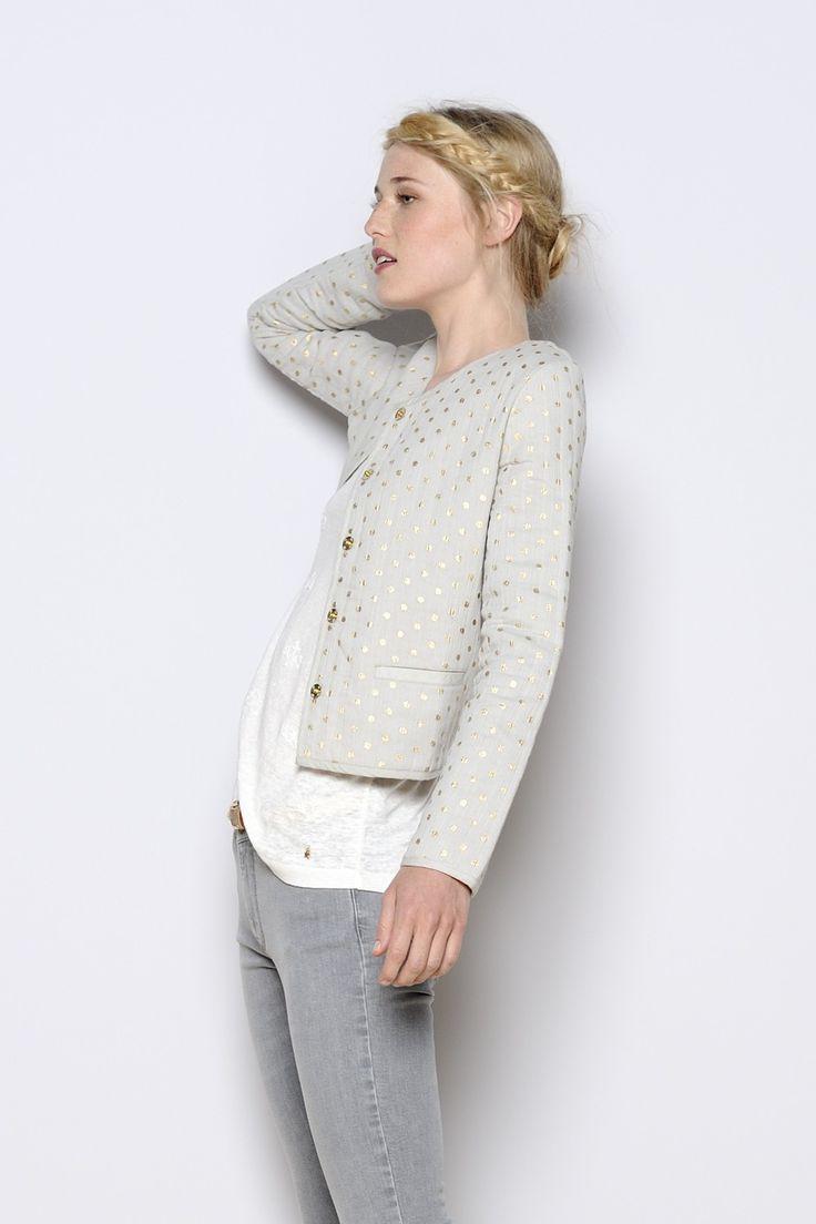 La – Coton 2018 Mode Veste Vestes Gris Femme À FUOWxFw1vq