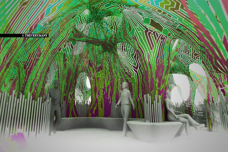 Tree House | permanent canopy | Miami Design & computation : MARC FORNES & THEVERYMANY™ ©2011 Client: SUSHI SAMBA| A tree house — the client asked us for the design and build of a &#8…