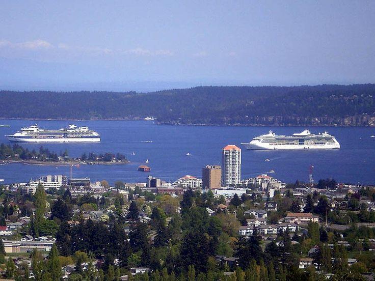 Cruise Ships all in a row, Nanaimo, BC