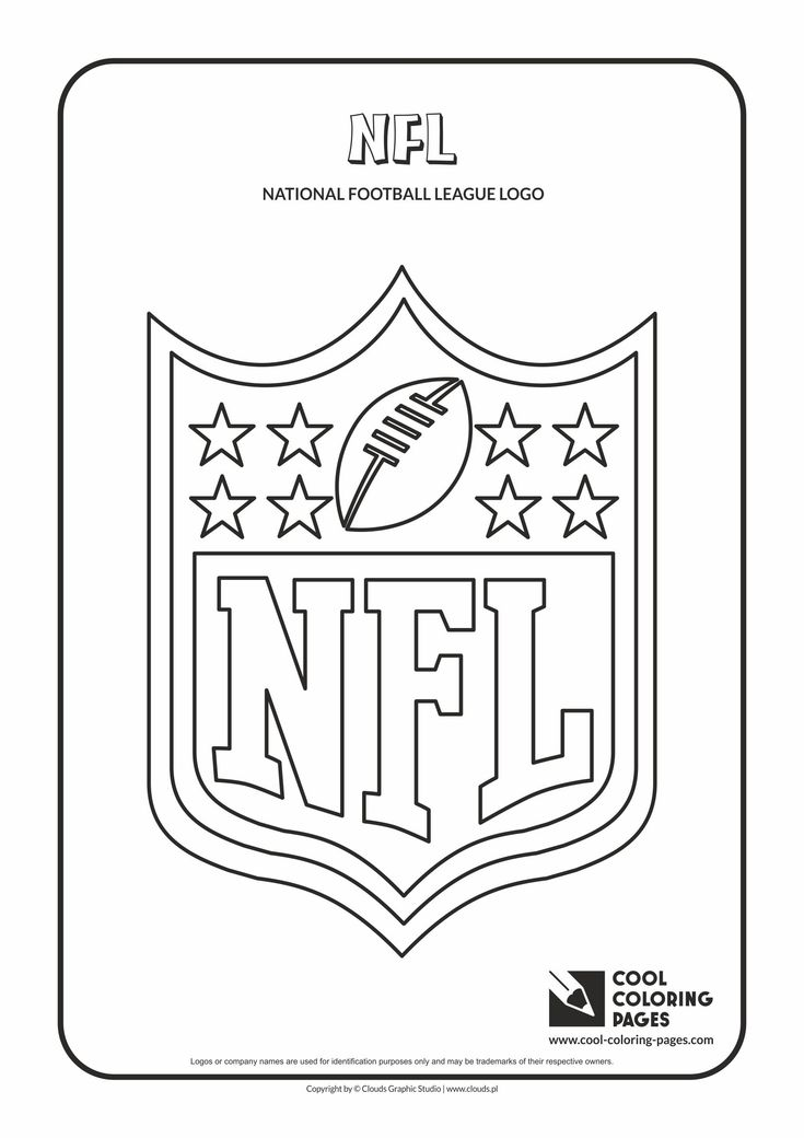 cool coloring pages nfl logo coloring page