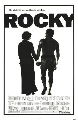 Rocky: Movie Posters, Rocky Balboa, Picture-Black Posters, Sylvester Stallone, Growing Up, Academy Awards, Movie Trailers, Rocky 1976, Favorite Movie
