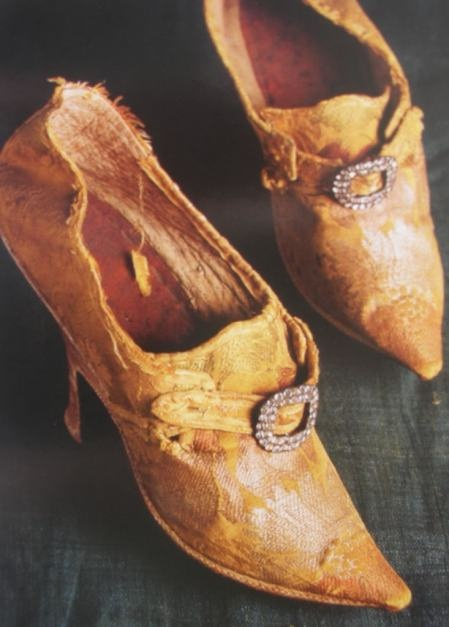 18th century silk court shoes. - I wonder who wore these and where they've been.