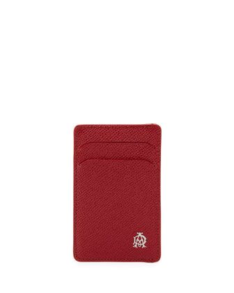 Bourdon Leather Card Case, Red by Alfred Dunhill at Neiman Marcus.