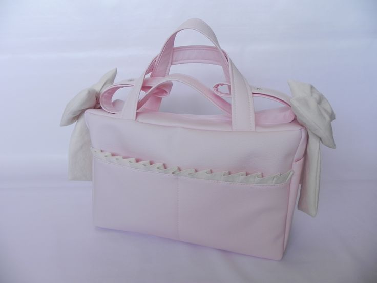Bolso maternal de polipiel rosa
