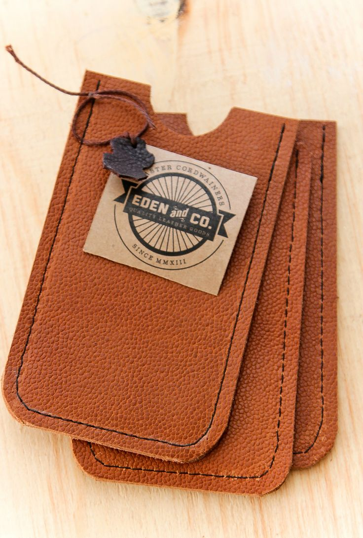 Leather Cellphone sleeve from Eden&Co Quality Leather Goods.  Handmade. Genuine Leather.