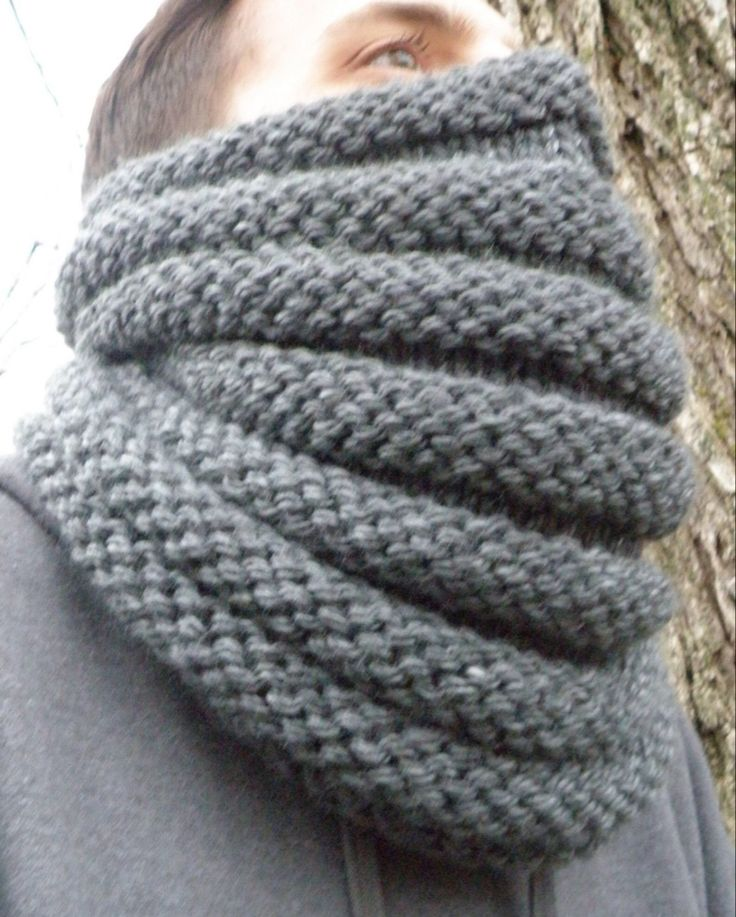 Hand Knit Scarf Cable Knit Scarf Tweed Scarf Chunky Scarf