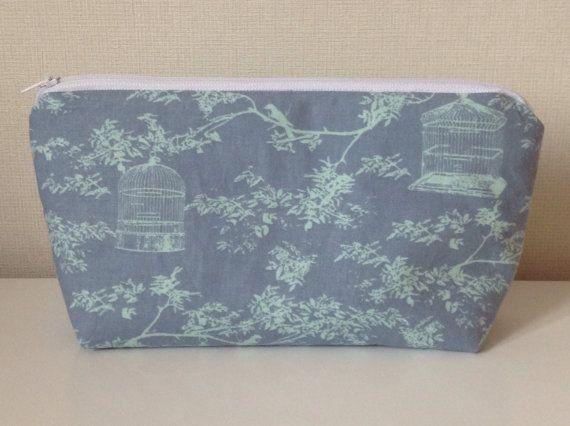 Birdcage cosmetic bag  Tilda pale blue  by HomeChicHomeGifts