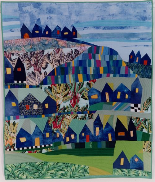 Bernadette Mayr: Quilts; love large prints amongst house blocks