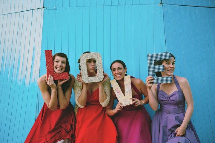 Boho Planned Weddings: Claire. Want to make up some of these colourful letters, easy and nice